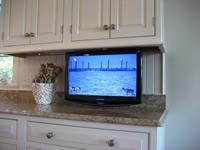 Kitchen TV On Articulating Mount